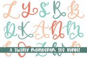 Swirly Monograms