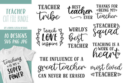 Cut File | 10 Teacher Bundle