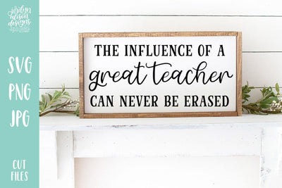 Cut File | Influence of a Great Teacher