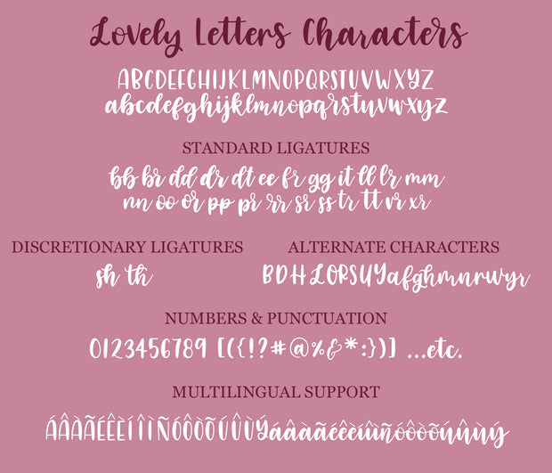 Lovely Letters Font
