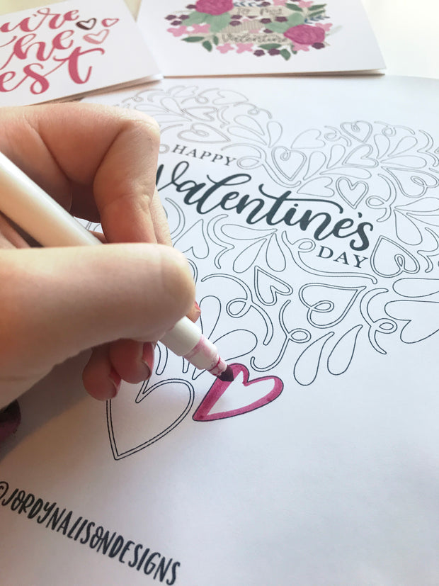 Valentine's Day Heart Coloring Page
