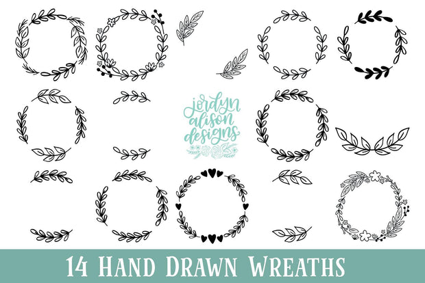 Cut File | 14 Wreath Bundle