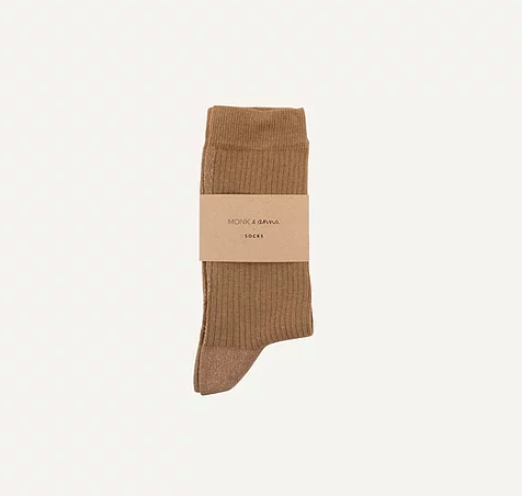 "Socken ""oat + golden glitterline"" Monk & Anna"