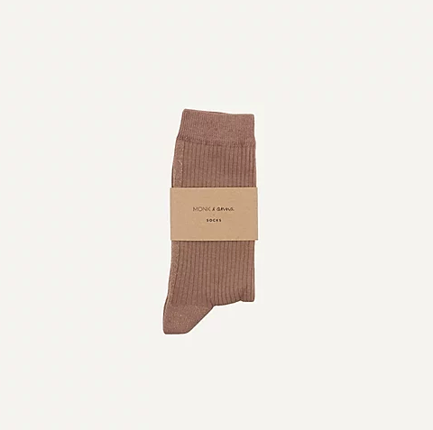 "Socken ""pink beige + golden glitterline"" Monk & Anna"