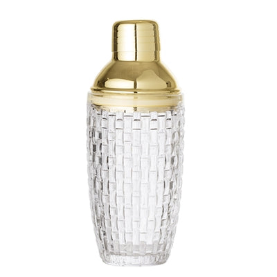 Cocktail Shaker Gold Glas