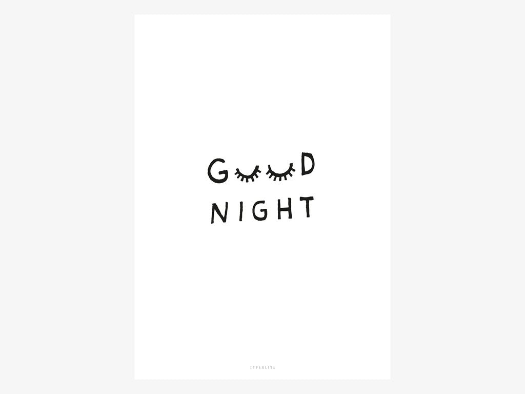 Postkarte Typalive – Good Night