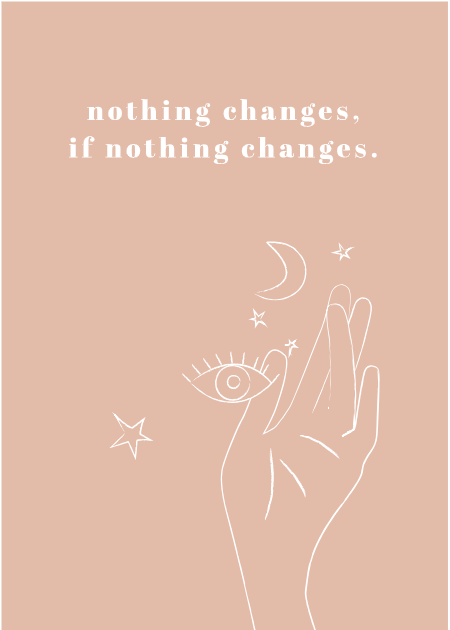 "Print ""Nothing changes, if nothing changes"" - Schnørkelig"