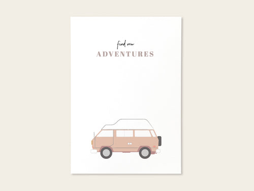 "Postkarte ""New adventures"" - Schnørkelig"