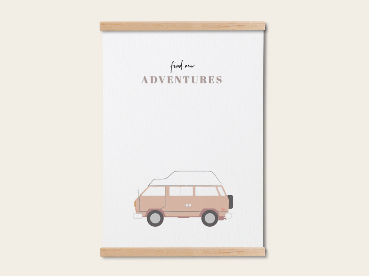 "Print ""New adventures"" - Schnørkelig"