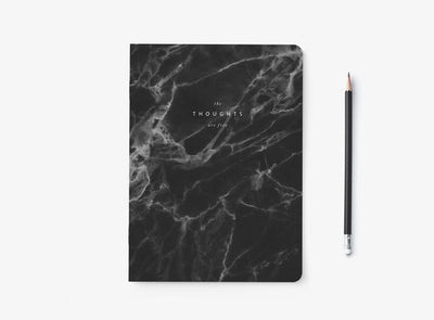 "Notizheft ""Marble Black"""