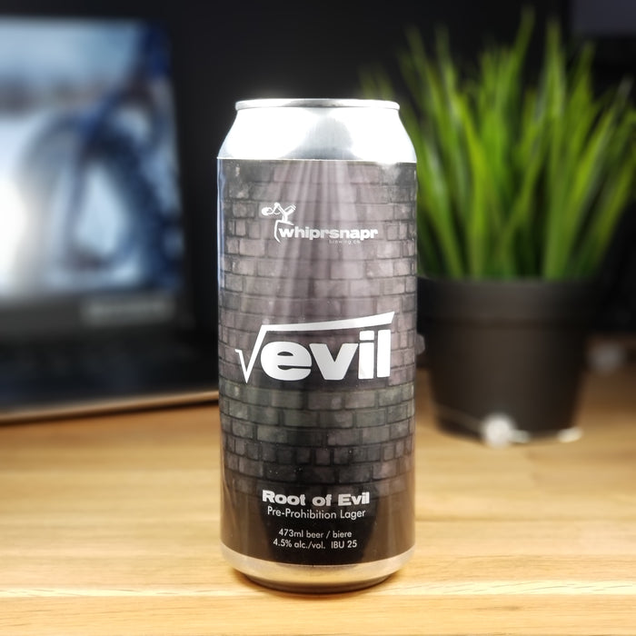Root of Evil. Pre-Prohibition Lager.  4.5%  25 IBU