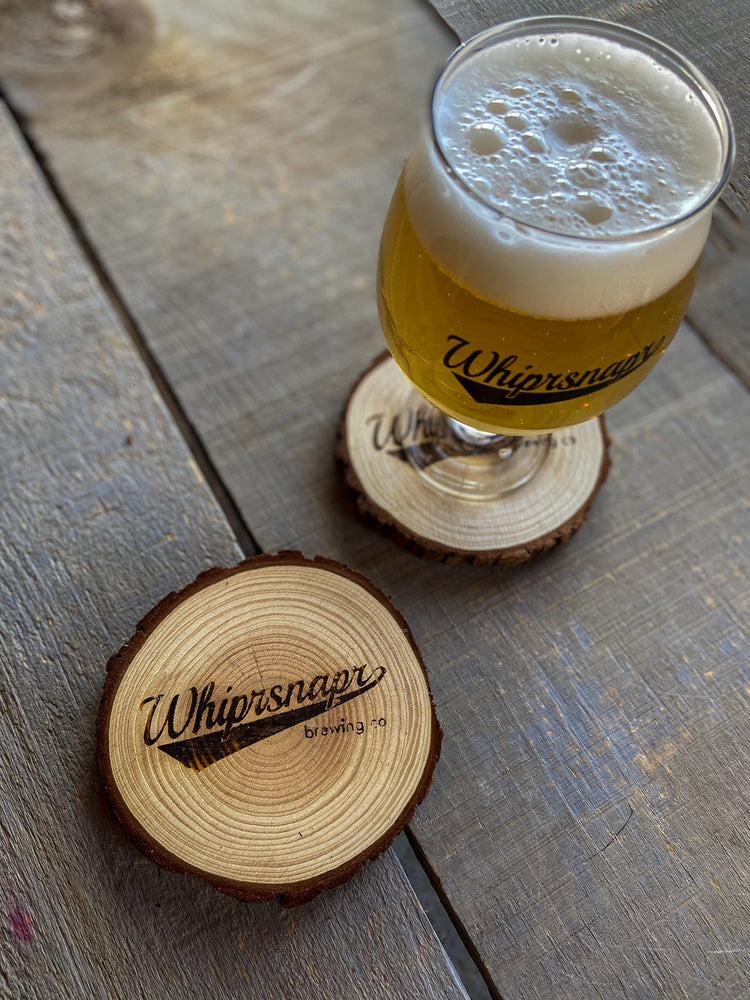 whiprsnapr pine wood coasters
