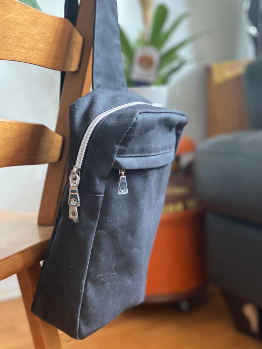 Rugged Wanderings Over the Shoulder waxed canvas bag