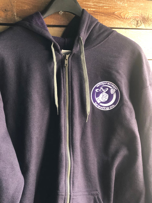 Whiprsnapr Purple Zip Up Sweatshirt