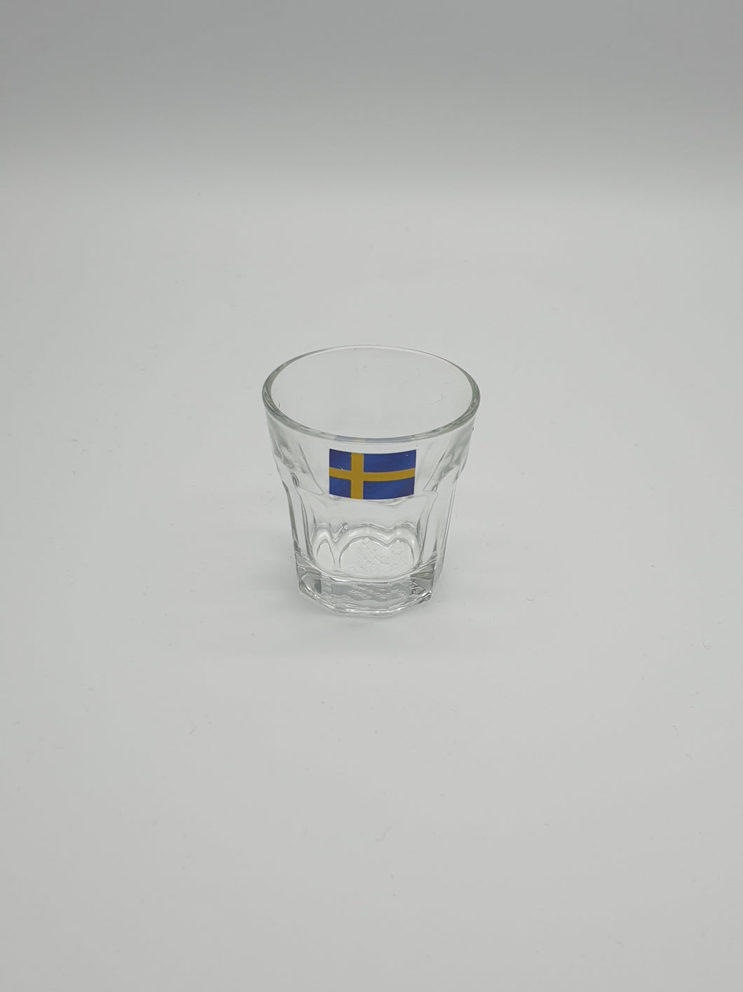 Glass Svenska flaga