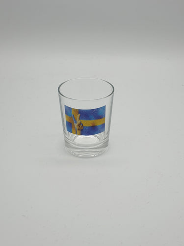 Glass swedish flaga