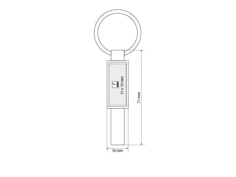 Metal key holder PAUL 33.085.88
