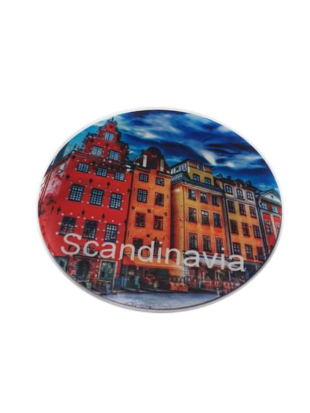 Scandinavia fridge magnet cirkle