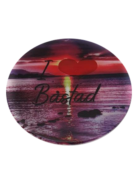 I love Båstad cirkle red fridge magnet