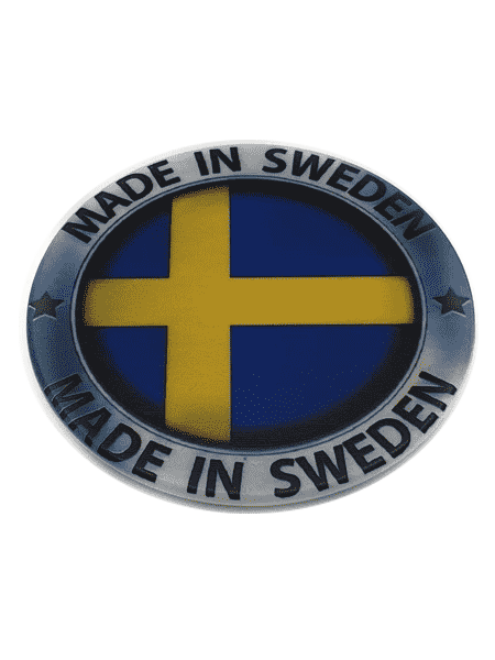 Made in Sweden silver cirkle fridge magnet