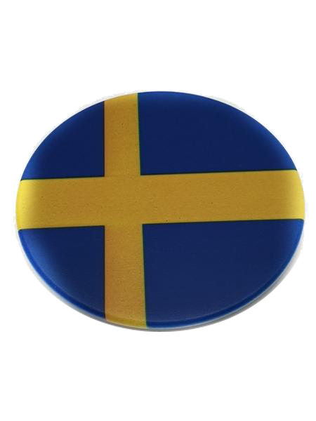 Svenska flag cirkle fridge magnet