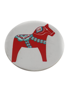Dalahäst cirkle fridge magnet