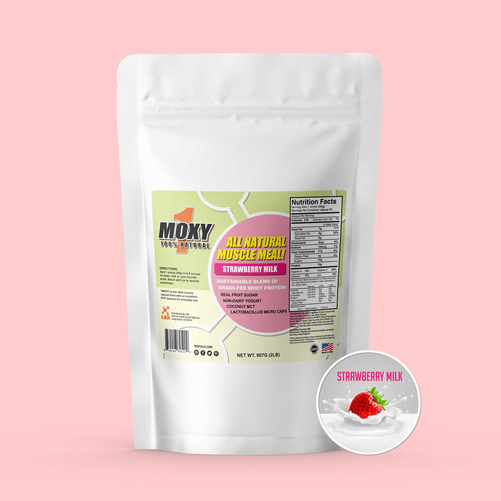 1MOXY STRAWBERRY MILK [ALL NATURAL] 907G - 1Muscle.com