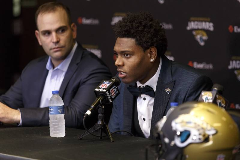 Jalen Ramsey Jacksonville Jaguars Press Conference | Don Juan Moore/Getty Images