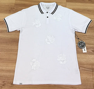 RS1NE Rose Embroidery Polo Ss Shirt
