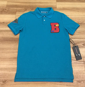 "Black Pyramid Letter ""B"" Patch Polo Shirt"