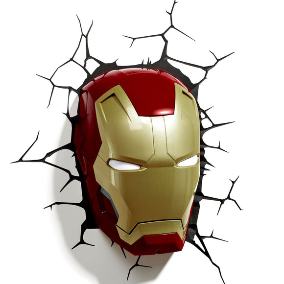 Philips Marvel Avengers 3D Light FX Iron Man Mask 3D Deco LED Wall Light