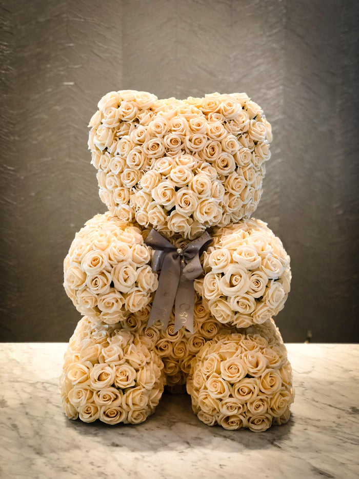Champagne rose bear- Angel, Celebration, Glamorous