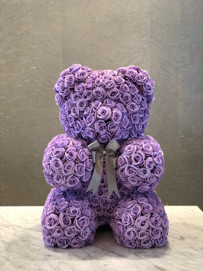 Lavender rose bear- Sweet, Adorable