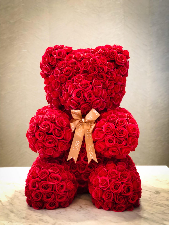 Red rose bear - Love