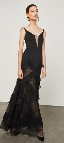 BCBG MAX AZRIA AVALINE EVENING GOWN BLACK SIZE 10 $468