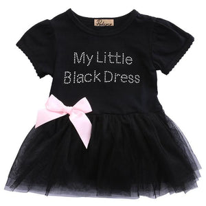 My Little Black Dress With Pink Bow
