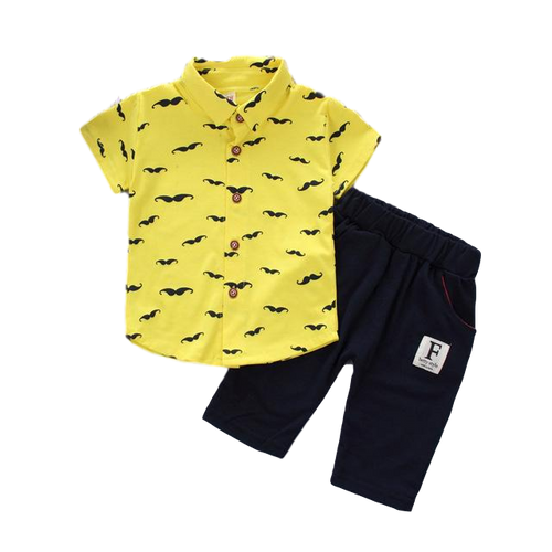 Baby Gentleman Moustache Shirt & Trousers Set
