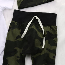 Worth The Wait Camo Army Romper, Trousers & Hat Set