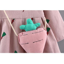 Baby Girl Bunny Carrot Dress With Carrot Soft Toy Handbag