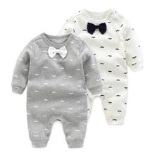 Little Gentleman Long Sleeve Romper & Bow Tie