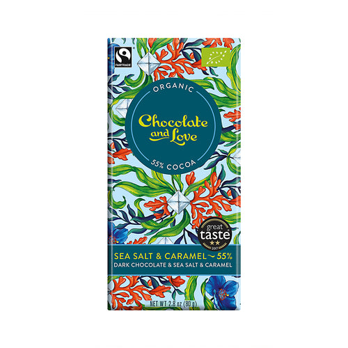 Chocolate and Love »Sea Salt & Caramel« 80g Tafel