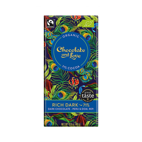 Chocolate and Love »Rich Dark« 80g Tafel