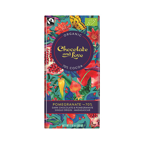 Chocolate and Love »Pomegranate« 80g Tafel