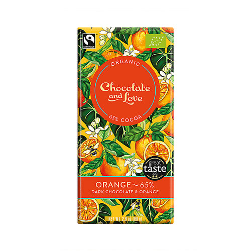 Chocolate and Love »Orange« 80g Tafel