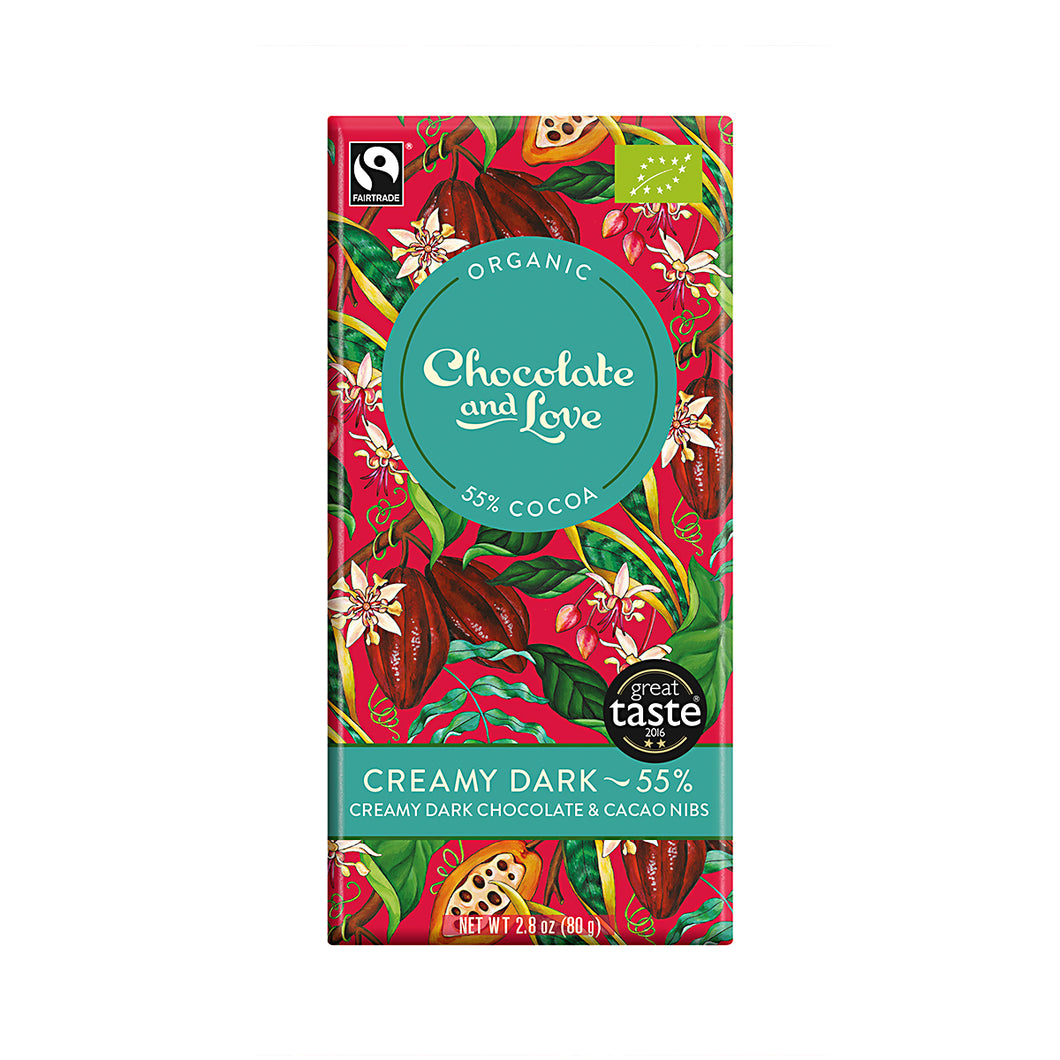 Chocolate and Love »Creamy Dark« 80g Tafel