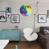 3D Large Moon Fluorescent Wall Sticker Art Home & Garden SoulOnSoul B