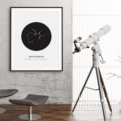 Beautiful Constellation Canvas Art Home & Garden SoulOnSoul 13x18 cm no frame Sagittarius