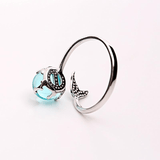 Mermaid Tail 925 Sterling Silver Ring crystal SoulOnSoul