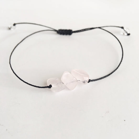 Beautiful Love Rose Quartz Minimalist Bracelet Jewelry SoulOnSoul