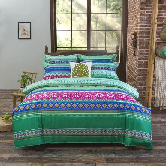 Vibrant & Wonderful Bohemian Printed Bedding Set Home & Garden SoulOnSoul 06 Full